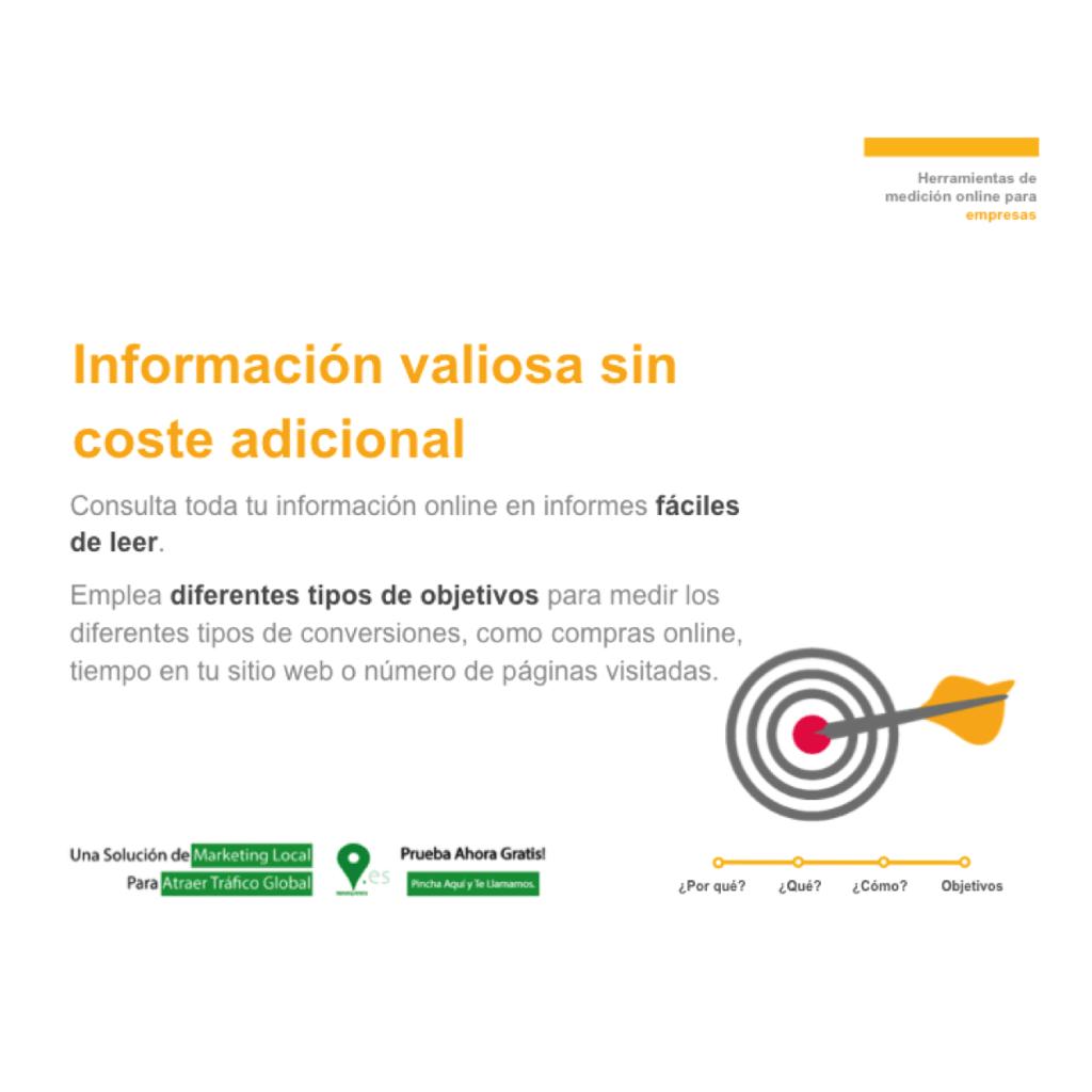 Información valiosa sin coste adicional