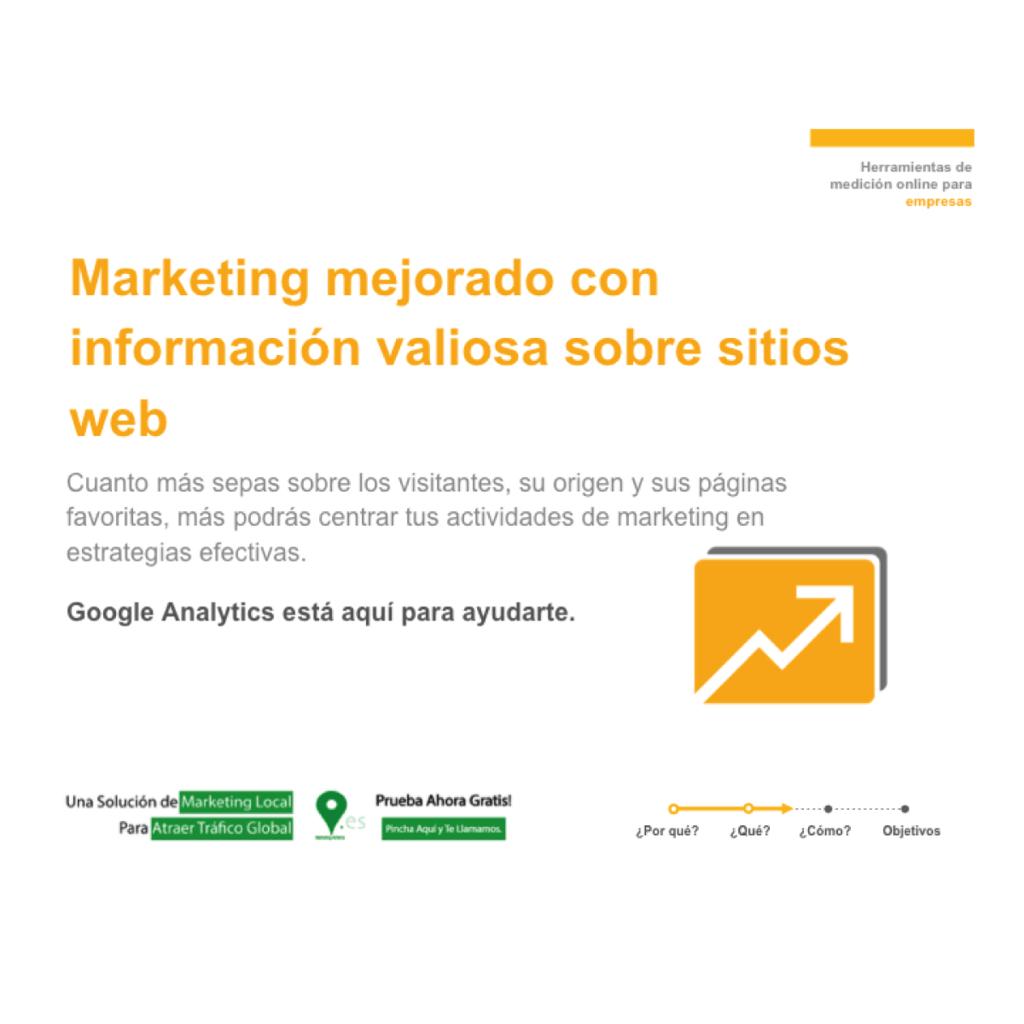marketing mejorado con información valiosa sobre sitios web
