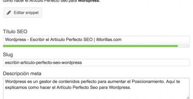 Wordpress: Mejorar Posicionamiento