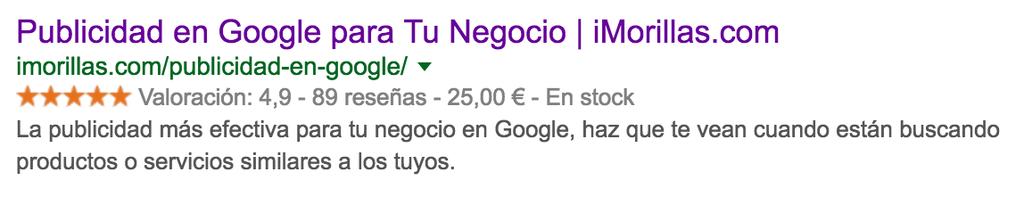 Marcado de datos - Google - imorillas.com