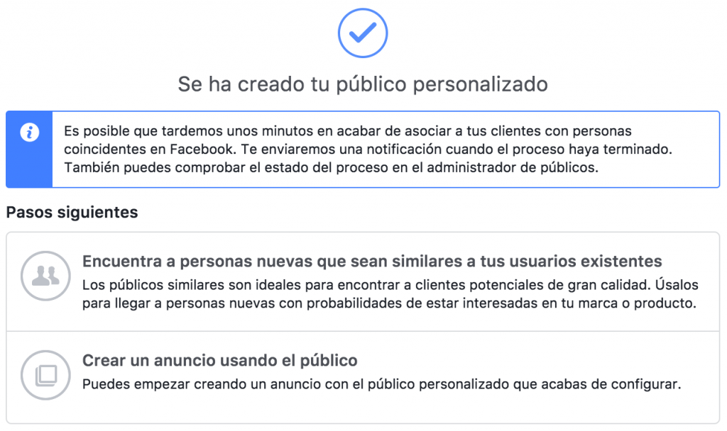 anuncio de facebook para una audiencia determinada