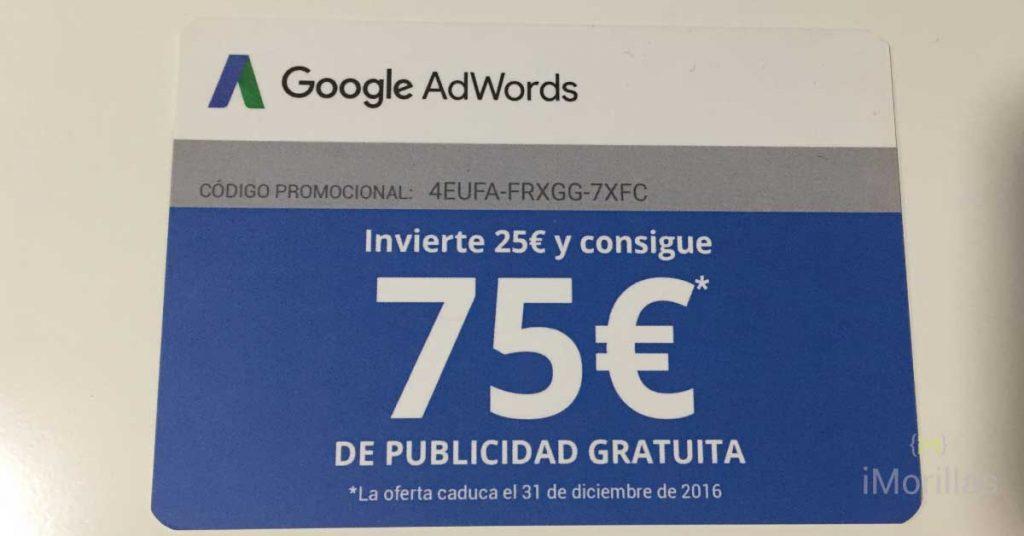 Credito de 75€ gratis para adwords