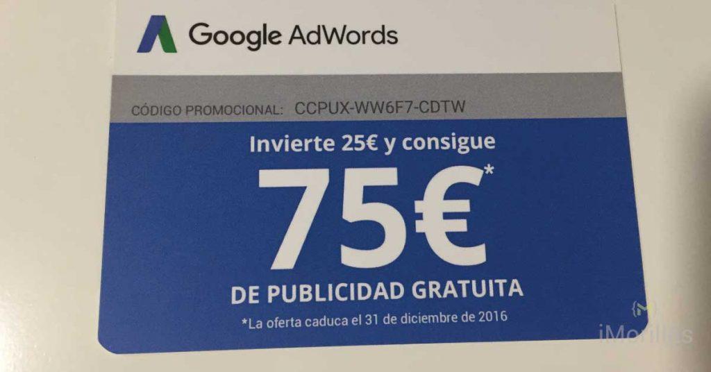 Cupón de 75€ Gratis en Google Adwords
