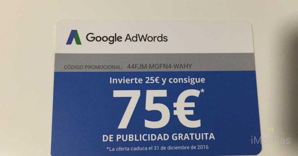 Usa este cupón gratuito de adwords