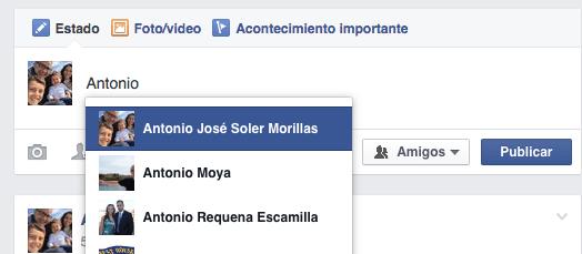 cómo puedo citar a un fan en mi página de facebook