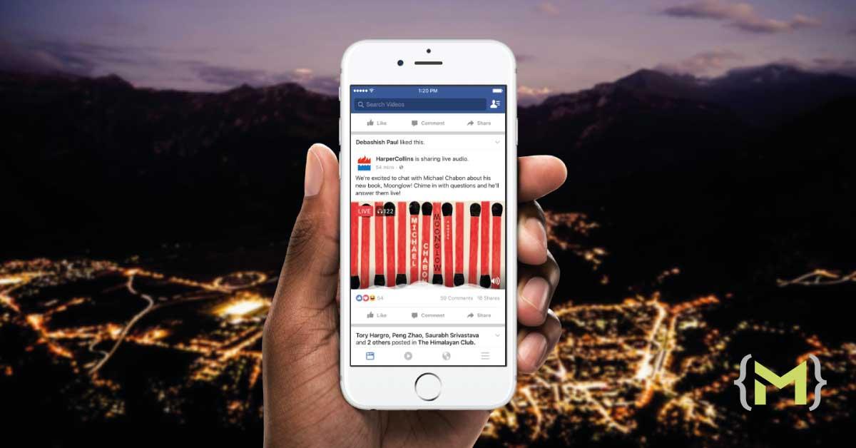 Facebook Live Audio convierte la red social en una emisora de radio