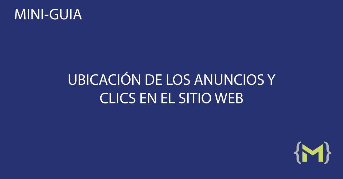 Ubicación y clics en el sitio web