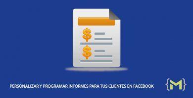 Personalizar informes en Facebook