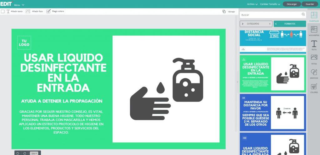 EDIT - diseño grafico online en español