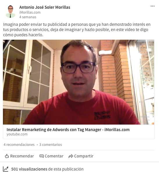 Cómo poner video en tus publicaciones de linkedin