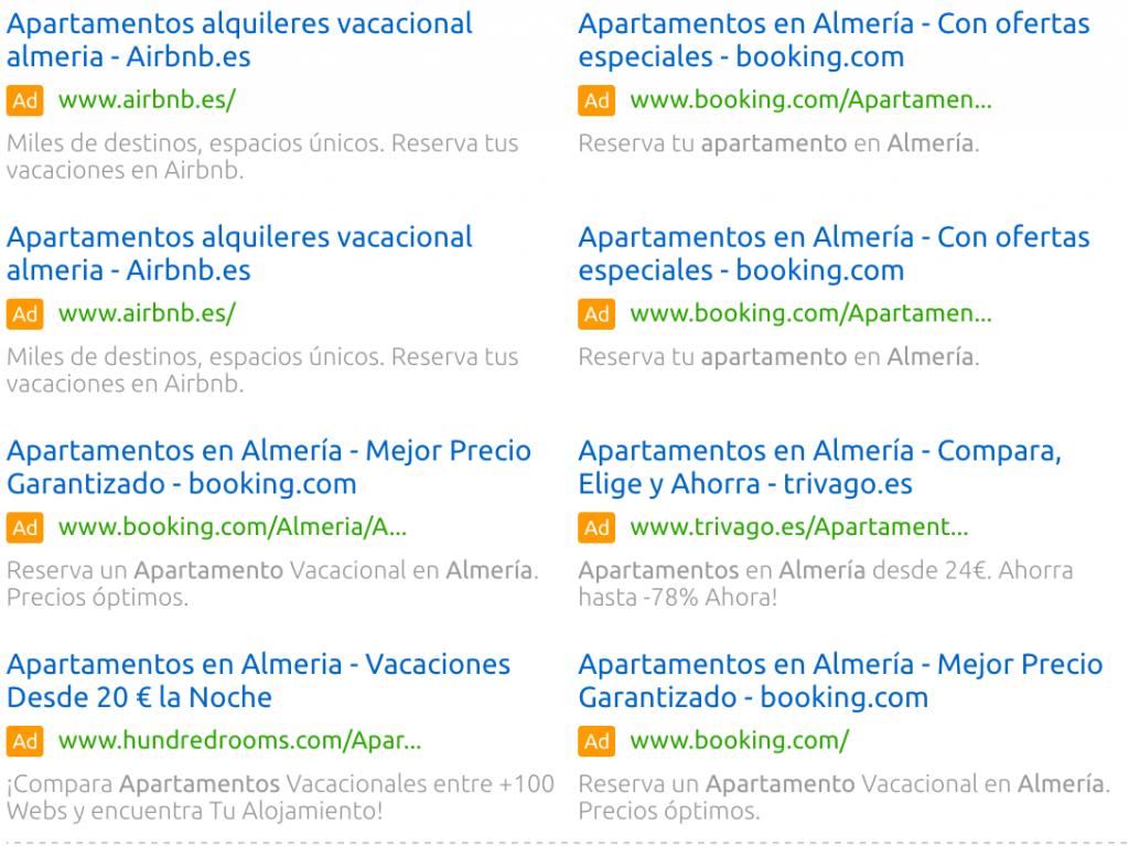 publicidad de hoteles en Almería