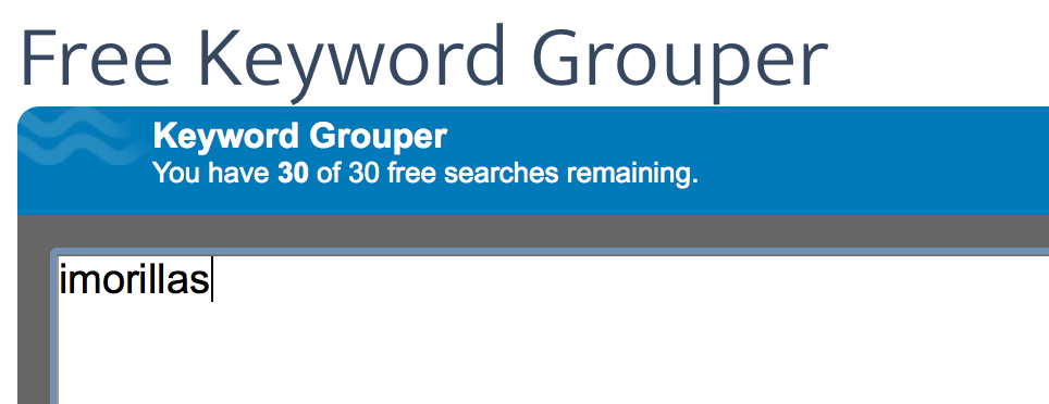 Free Keyword grouper
