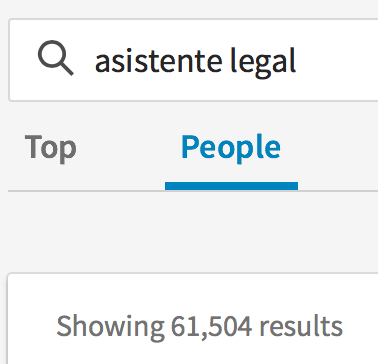 Asistente Legal en LinkedIn