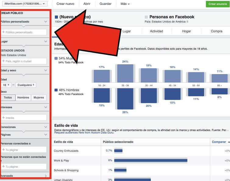 Crear un publico personalizado especial en facebook