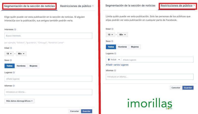 Segmentación de Público orgánico en Facebook