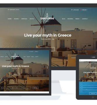 Santorini Resort - WordPress para Hoteles
