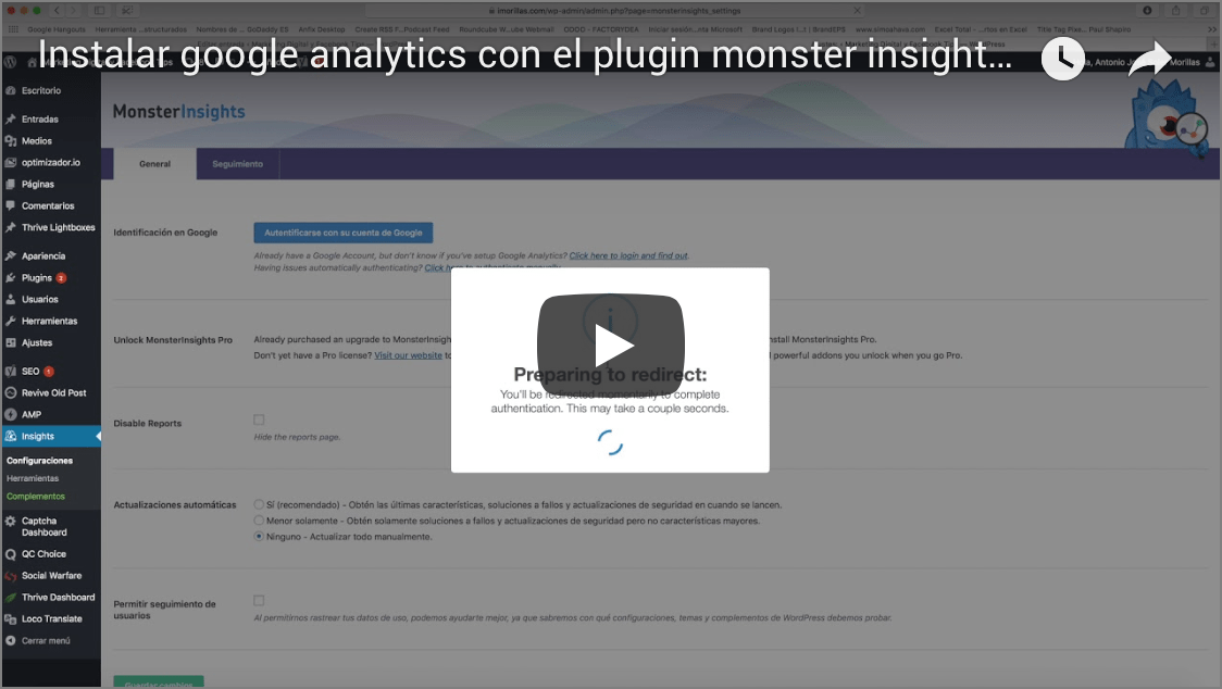 google analytics para wordpress