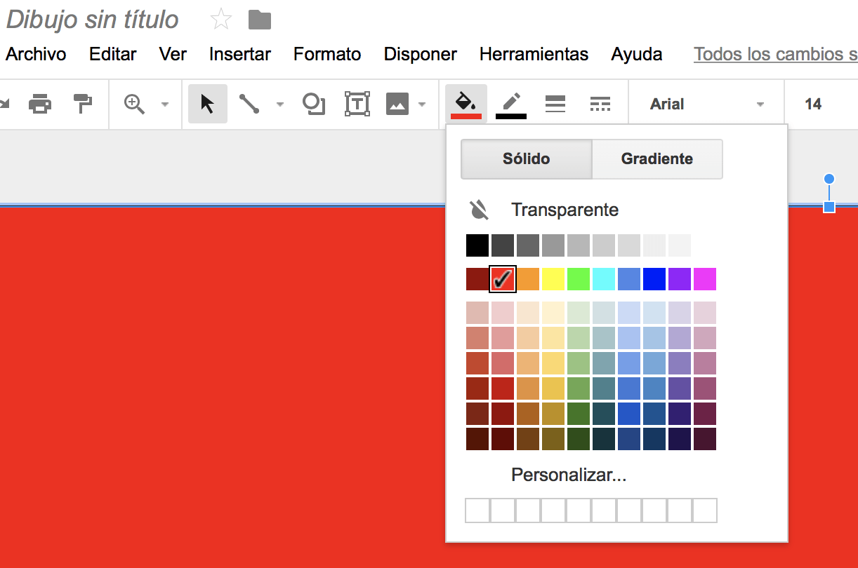 a la herramienta de llenado de color para asignar el color que quieras al fondo.