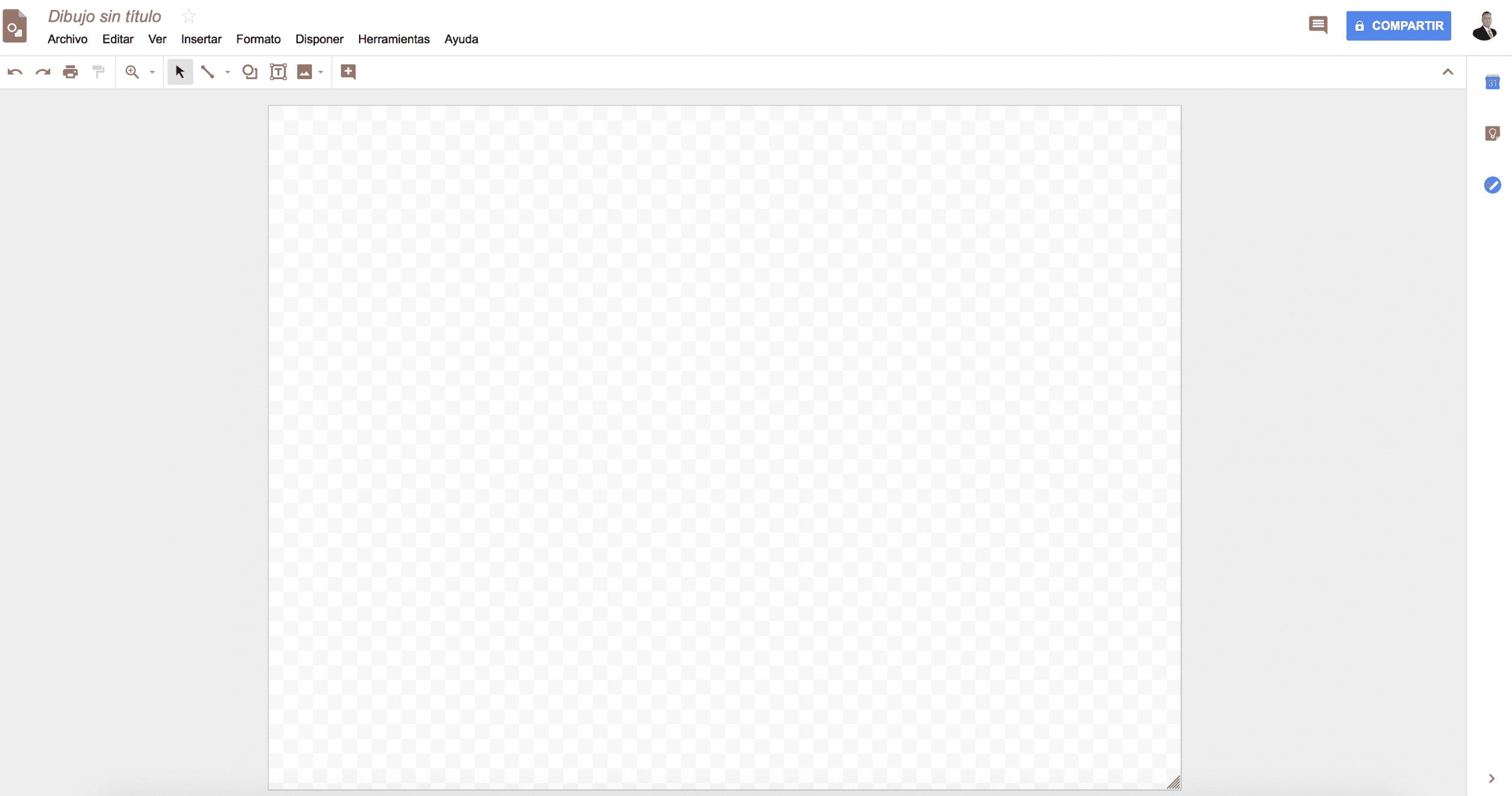 Captura de pantalla  Google Drawings