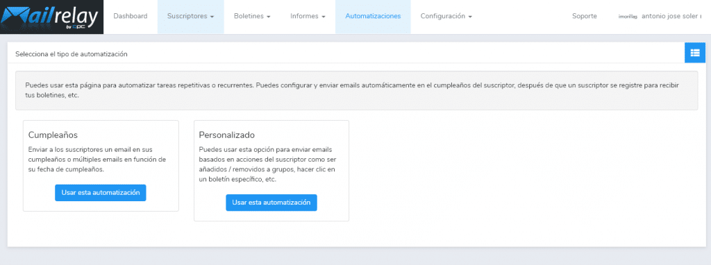 mailrelay Automatismos